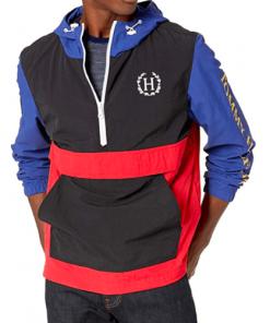 chaqueta hilfiger negro azul rojo hombre