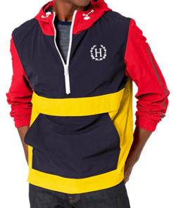 chaqueta hilfiger negro amarillo rojo hombre