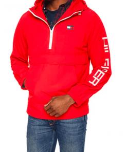 chaqueta hilfiger rojo hombre