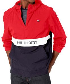 chaqueta hilfiger rojo azul hombre