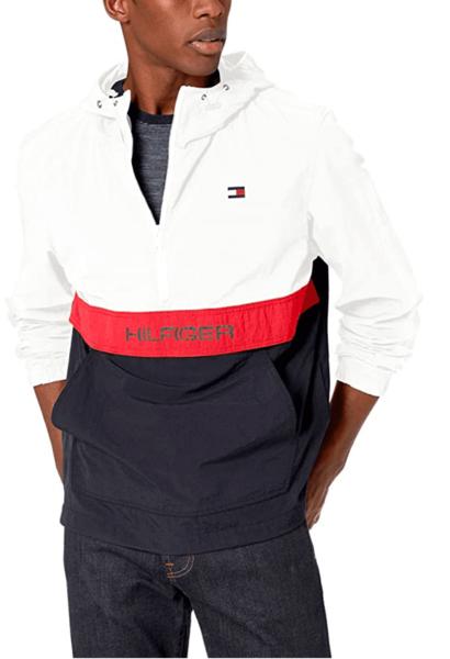 chaqueta hilfiger blanco rojo azul hombre