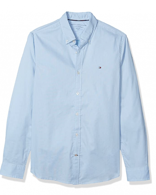 camisa tommy hilfiger azul clarito