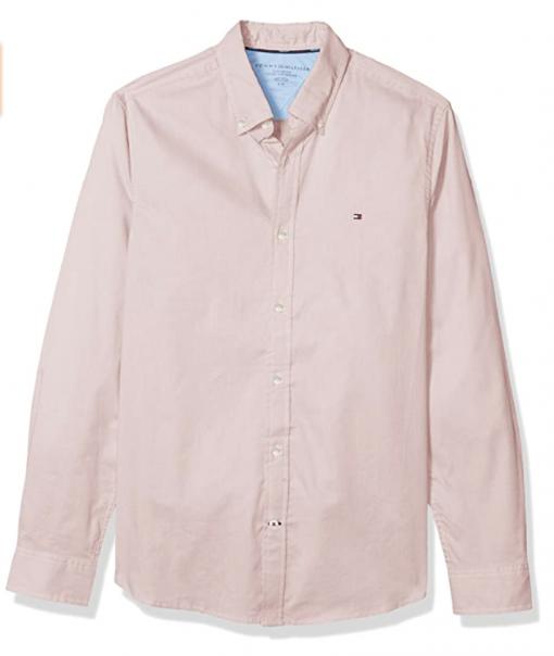 camisa tommy hilfiger rosa