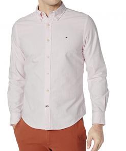 camisa tommy hilfiger rosa palido