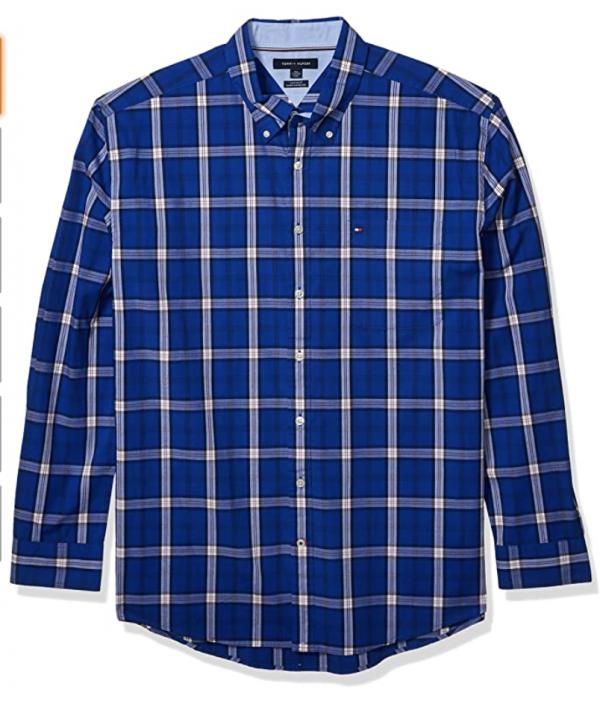 camisa tommy hilfiger azul cuadros
