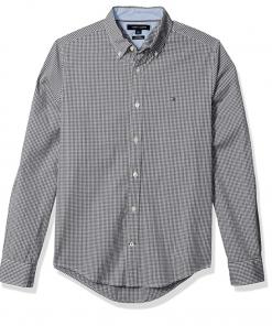 camisa tommy hilfiger gris rayas