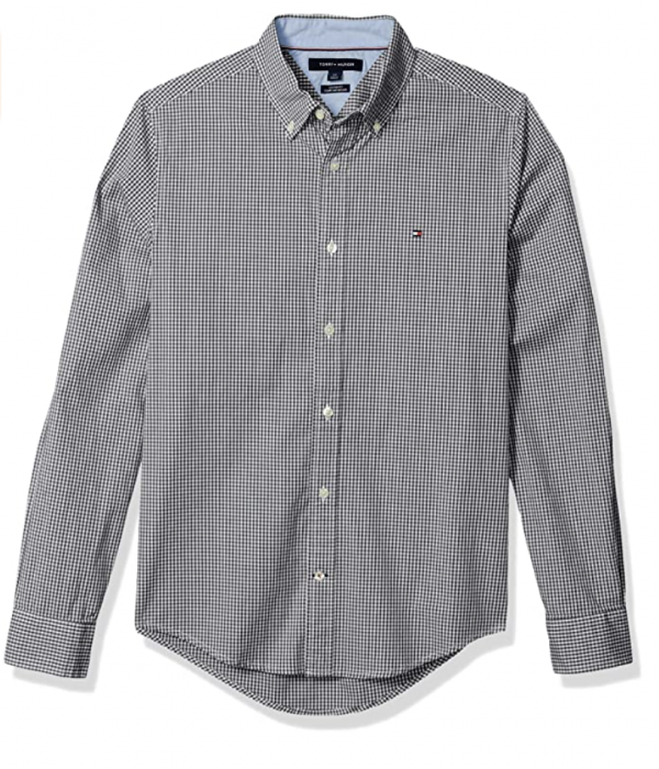 camisa tommy hilfiger gris rayas