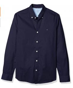 camisa tommy hilfiger azul oscura