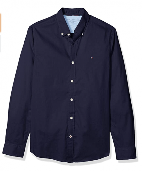 camisa tommy hilfiger azul oscura