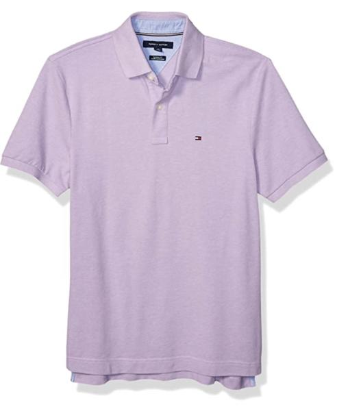 camiseta polo tommy hilfiger manga corta lila