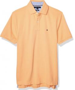 camiseta polo tommy hilfiger manga corta naranja
