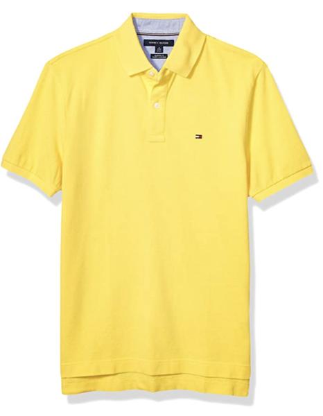 camiseta polo tommy hilfiger manga corta amarillo