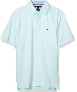 camiseta polo tommy hilfiger manga corta azul clarito