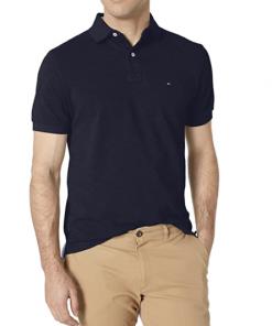 camiseta polo tommy hilfiger manga corta azul oscuro