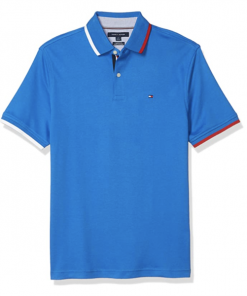 camiseta polo tommy hilfiger manga corta azul rey
