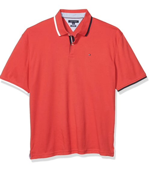camiseta polo tommy hilfiger manga corta roja