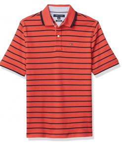 camiseta polo tommy hilfiger manga corta rayas roja negra