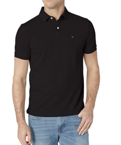 camiseta polo tommy hilfiger manga corta negra