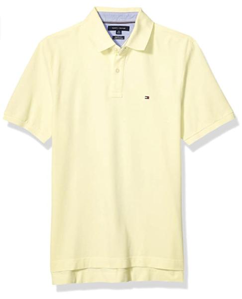 camiseta polo tommy hilfiger manga corta amarilla