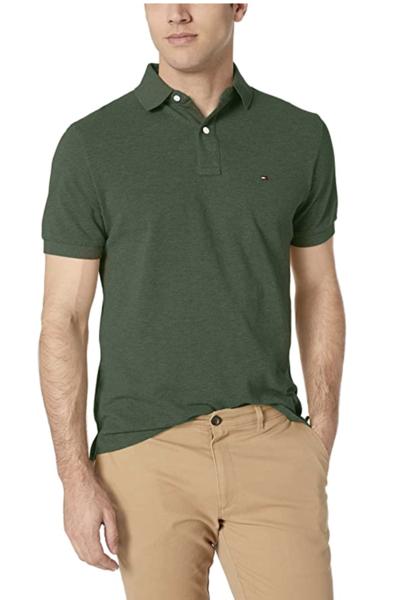 camiseta polo tommy hilfiger manga corta verde