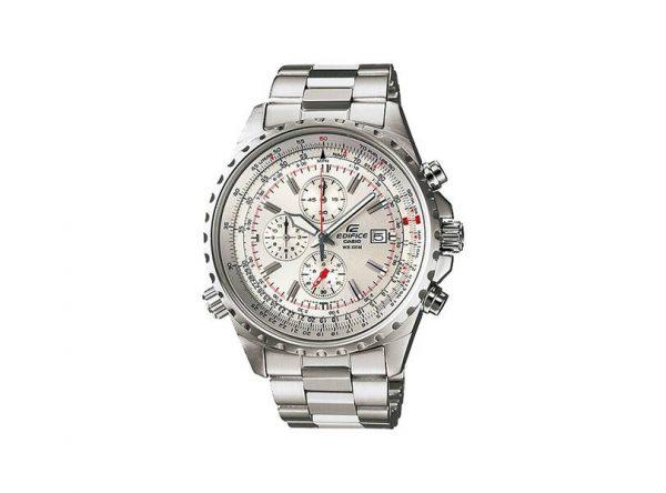 reloj casio gris edific pulso acero inoxidable