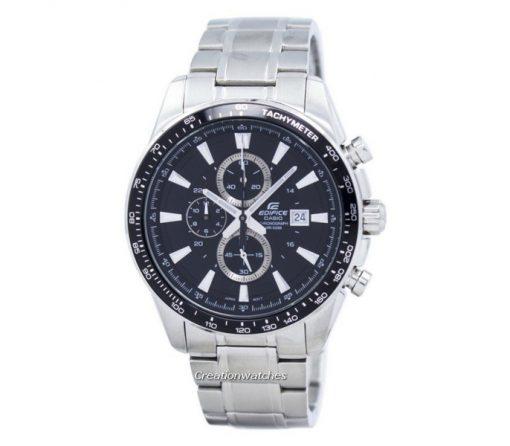 reloj casio gris edific gris tablero azul