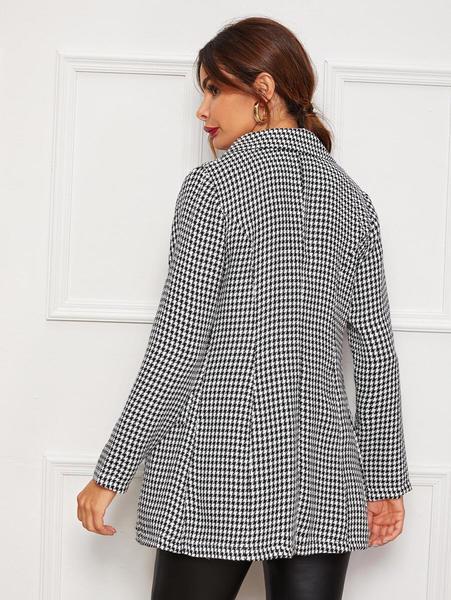 blazer elegante cuadros mujer