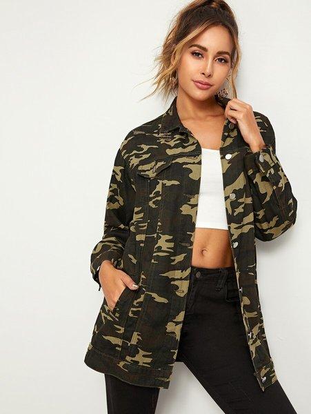 chaqueta militar camuflado mujer
