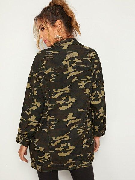 chaqueta militar camuflado mujer espalda