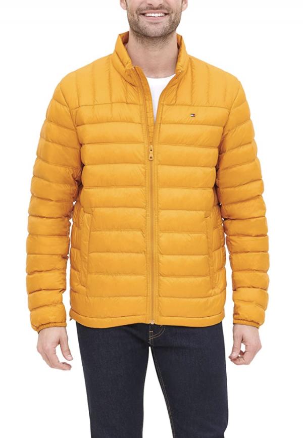 chaqueta hombre tommy hilfiger plumas amarillo