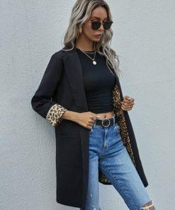 blazer negro mujer