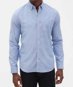 camisa hombre azul claro