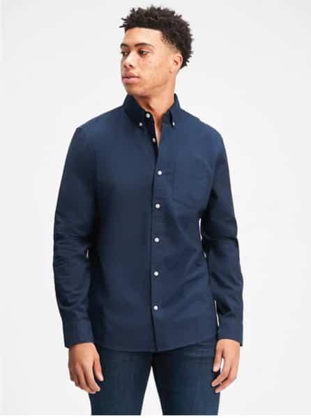 camisa gap hombre azul oscuro