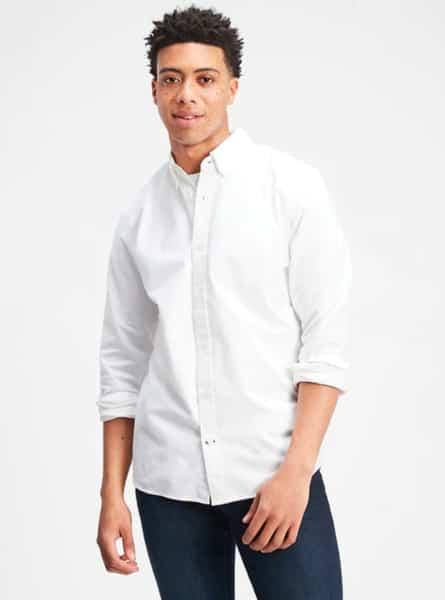 camisa hombre gap blanca
