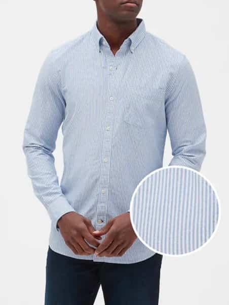 camisa hombre gap rayas azul