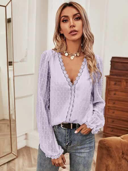 blusa morado