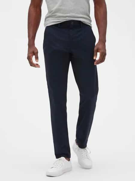 pantalon azul oscuro gap hombre