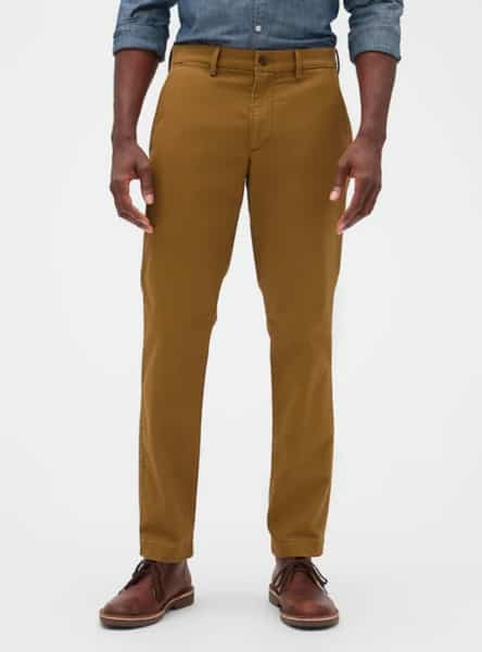 pantalon cafe gap hombre