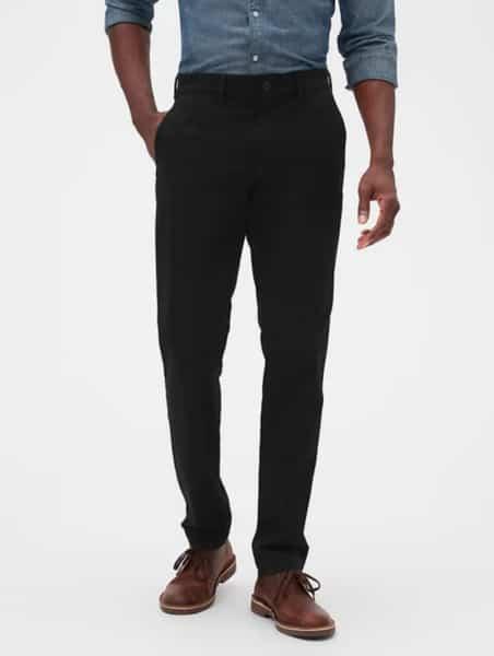 pantalon negro gap hombre