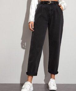 jean negro cintura alta