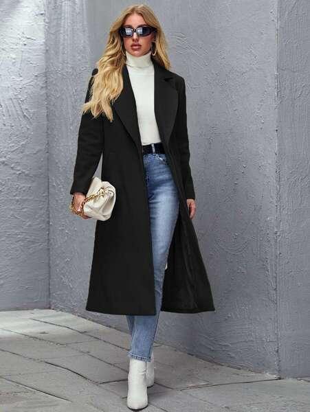 abrigo mujer bogota negro