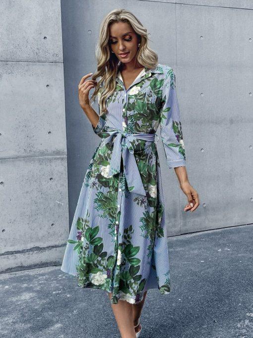 vestido flores mujer