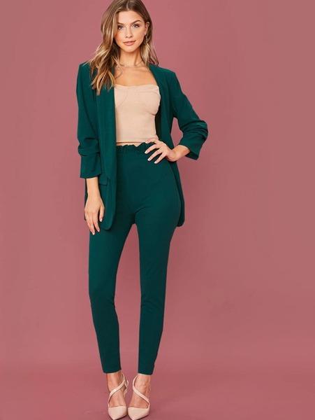 conjunto elegante mujer pantalon blazer